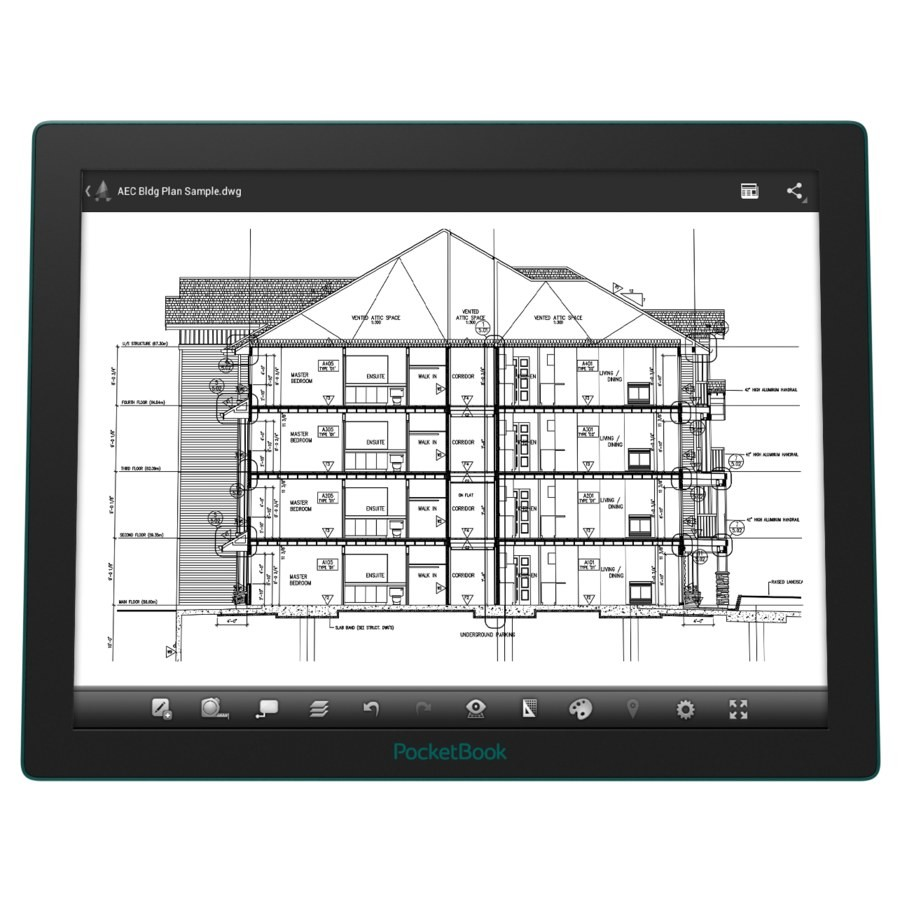 PocketBook CAD Reader: планшет с EPD дисплеем Fina от E Ink