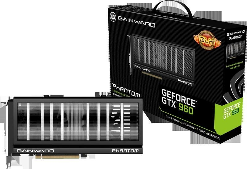 Представлена серия видеокарт Gainward GeForce GTX 960
