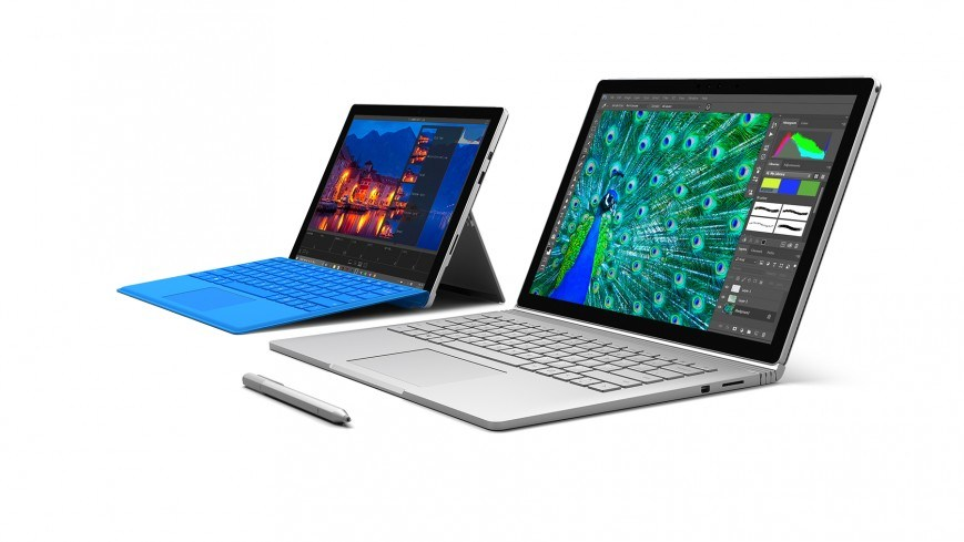 Microsoft Surface Book и Surface Pro 4